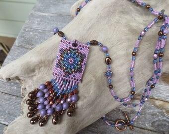 Handmade Artisan Beadwork Medicine Bag - Amulet Bag - Beadweaving