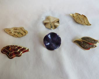 Variety of Post Earrings, Purple, Gold, Post