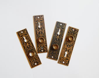 Antique Door Plate - Door Plate Lot - Vintage Door Plate - Egyptian Door Plate - OOAK Vintage Hardware
