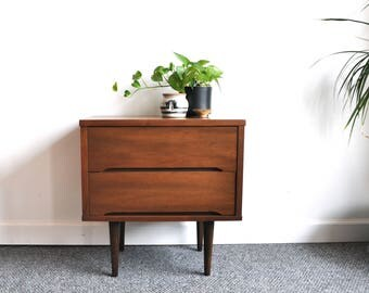 SOLD:   Vintage Mid Century Modern Nightstand Bedside Table