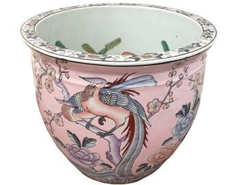 Pink Chinoiserie Planter