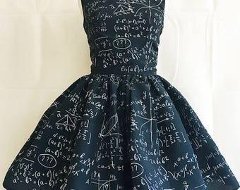Maths Dress, Mathematics Print, Maths Clothes By Rooby Lane