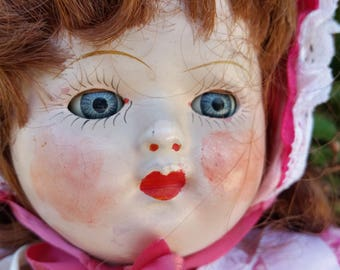 antique, 1906, Ideal composition doll, 16""