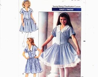 Butterick 6257 Szs 7-8-10 Girls Pullover Dress Back To School UNCUT