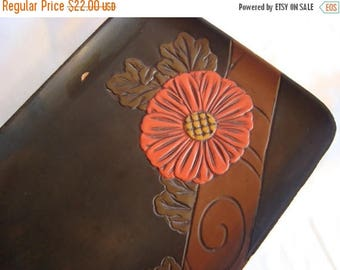ON SALE Wood Carved Tray Serving Tray Wooden Floral Tray TREASURY Item