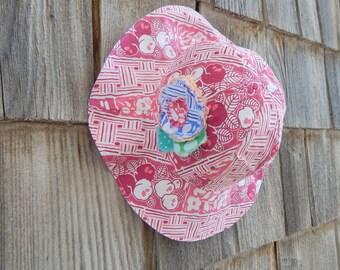 Pink Girl Sun Hat, Reversible Sun Hat