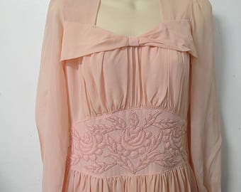 1940's Pink Party Evening Dress  #125