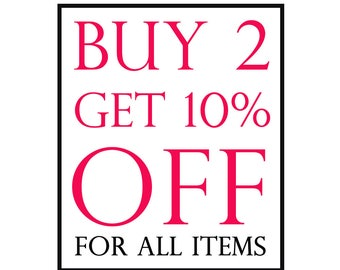 Buy Any 2 Items And Get 10% Off, Coupon Code SALE10, Discount Coupon, 925 sterling silver, Jewelry, Judaica, Gift, All Items Included