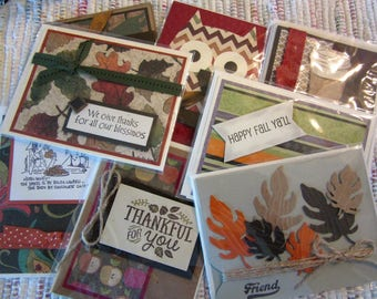 Fall Greeting Card Assortment Pack  #27  Set of 8