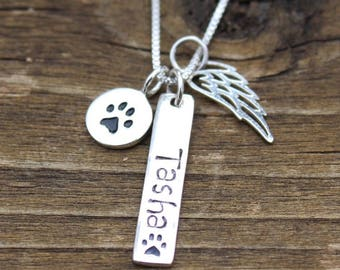Pet Memorial - Pet Loss necklace - Pet Loss- Pet Loss Gift -  Pet Memorial - Loss of Dog Cat - Memorial Gift - Loss of Pet - Personalized