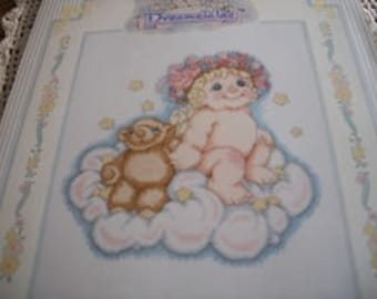 Teddy and Me Dreamsicles Cross Stitch Kit: Comes with Floss, Fabric, Needle, Dir