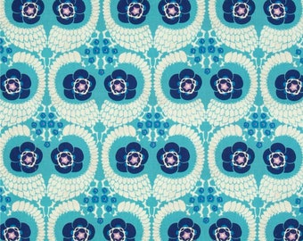 1 Yard Amy Butler Amy Butler VIOLETTE FRENCH TWIST Westminster Leaf Floral Fabric PWAB141SKY Free Spirit Quilting Sewing Fabric