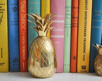 "Vintage 6 1/4"" Brass Pineapple Candle Holder"