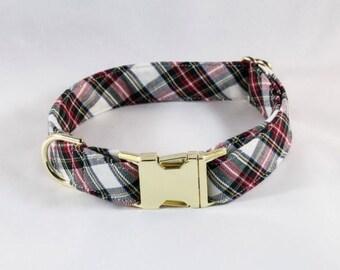 Tartan Plaid Dog Collar, Holiday Dog Collar, Christmas Dog Collar, Red and Green Dog Collar, Fall , Scottish, Flannel, Christmas