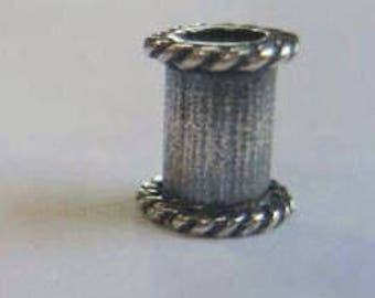 Rita's Sterling Silver Finishing Bead, 1/4 or 3/8 inch long, Sri Lanka  (pair) - Rita Okrent Collection