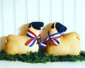 Primitive Americana Sheep | 4th of July | Centerpiece | Primitive Sheep decor | Folk Art | Farmhouse decor | Liberty bell | Ships now