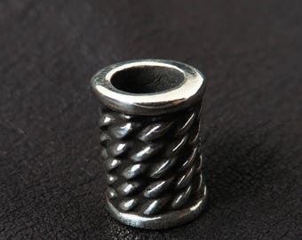 Silver beard bead (6mm)