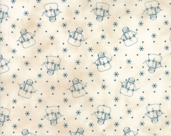 Snowman Gatherings III Tallow Blue 1210 14 by Primitive Gatherings for moda fabrics