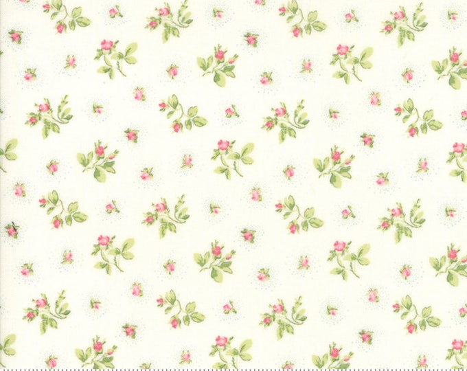 Caroline linen white 18653 11 by Brenda Riddle Designs for Moda Fabrics