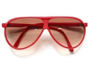 Red vintage sunglasses (rummage sale)
