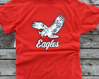 MED | Russell Athletic T Shirt Red Eagles Sports Shirt Athletic Red Tee