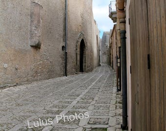 Alleys of Sicily,  Fine Art Photography, Personalized Cards, Note Cards, Prints