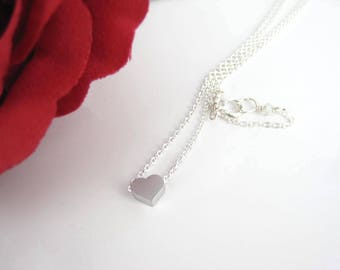Heart Charm, Silver Heart, Sweetheart Gift, Valentine's Day Gift, Sterling Silver, Birthday Gift