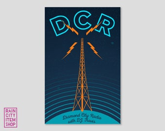 Fallout - Diamond City Radio Print