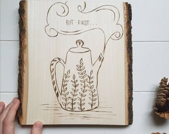 Tea Lover Wall Decor | Tea Pot | But First, Tea