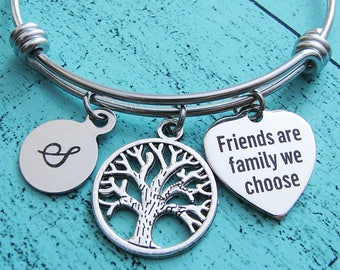 best friend gift, friendship bracelet, bff birthday gift, Christmas gift for best friend, besties gift for her, friends are family we choose