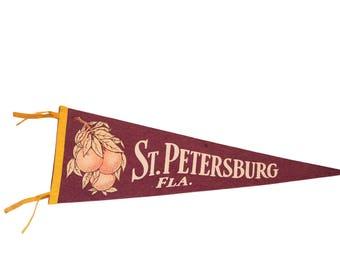 St Petersburg Florida Felt Flag