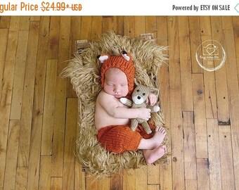 newborn fox outfit, newborn fox hat, newborn photo prop, newborn photo outfit, newborn, photography outfit