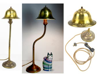 industrial table lamp,  1920's, goose neck,  Esrobert Company, task lighting, a vintage beauty