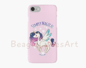 Unicorn Phone Case, Case for iPhone, iPhone 7, 6, 5s, 5c, Horse Phone Case, Pony Phone Case, Animal Phone Case, Kawaii Phone Case, Gift