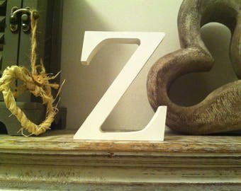 Giant Wooden Letter - Z - Times Roman Font, 50cm high, 20 inch, any colour, wall letter, wall decor - various colours & finishes
