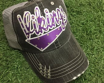 Minnesota Vikings Baseball Bling Ladies Womens Trucker Hat