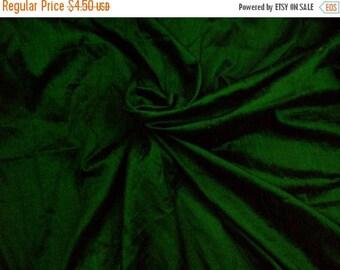15% off on Fat quarter emerald green 100 percent pure  dupioni silk