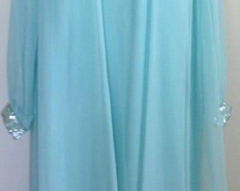 Evening gown maxi seafoam green dress