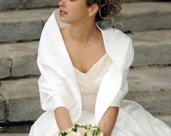Bridal Wrap Stole of Duchesse Satin Classic Style