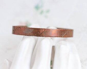 Copper Cuff Bracelet - Simple Boho Bracelet