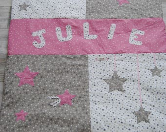 Doubled fleece baby blanket with stars theme, Julie