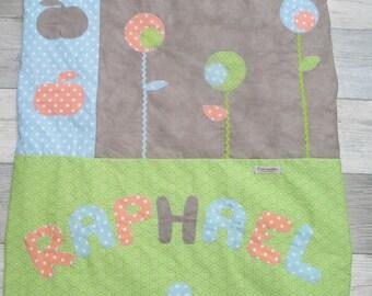 """Snail in the garden"" baby blanket for Raphael"