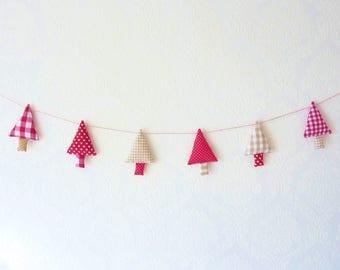 Christmas garland christmas bunting christmas tree garland christmas banner
