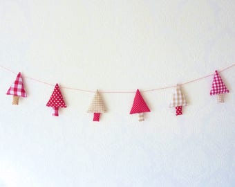 Christmas garland christmas tree garland christmas banner