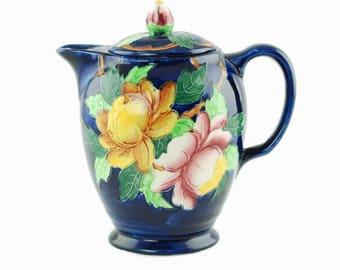 Vintage Maling England Peona Hot Water Coffee Pot