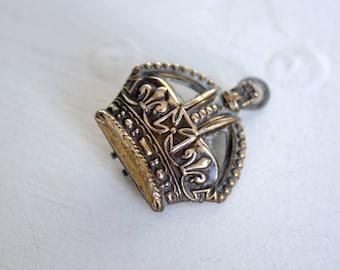 vintage royal crown brooch