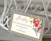 BRIDAL SHOWER GIFT Registry Cards Printable gift Registry Cards Gift Registry Insert Wedding Gifts Card File Flowers 2001