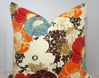 SPRING FORWARD SALE New Richloom Amelia Graffiti Pillow Cover Purple Blue Brown Orange Decorative Floral Throw Pillow Covers Choose Size