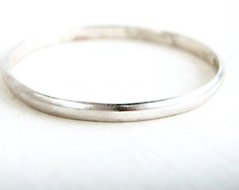 Wide Mexican Bangle Sterling Silver Vintage Bracelet Heavy Stacking Bangle Size 8 Medium Large
