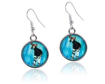 Okapi Earrings - From My painting, New Hope by Salvador Kitti